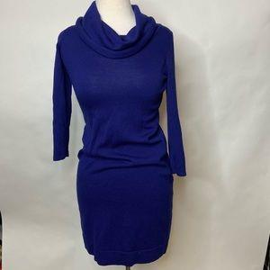 Limited Royal Blue long sleeved cowl neck dress